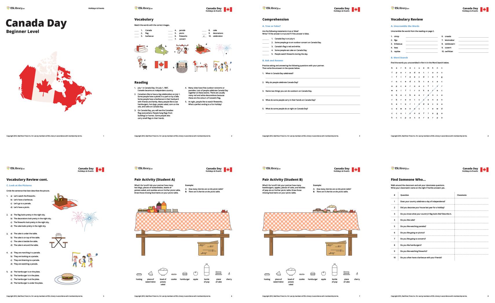 ESL Lesson Plans for Canada Day – ESL Library Blog