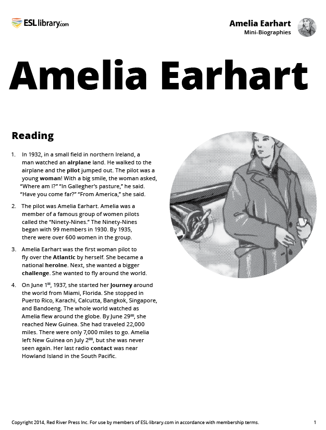 an analysis of the amelia earharts younger days