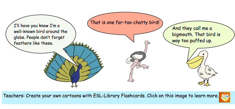 Create your own cartoons for teaching English.